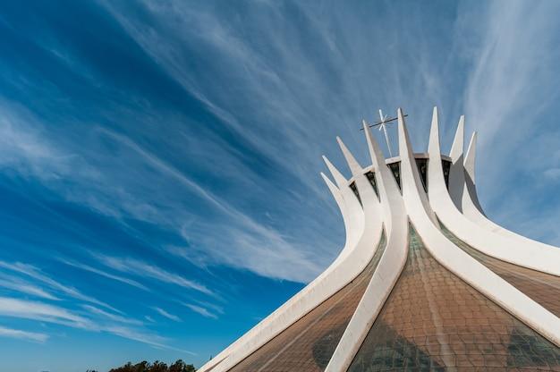 Metropolitan cathedral brasilia df brazil on august 14 2008 by oscar niemeyer