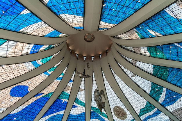 2008년 8월 14일 건축가 oscar niemeyer에 의해 브라질리아 df 메트로폴리탄 대성당