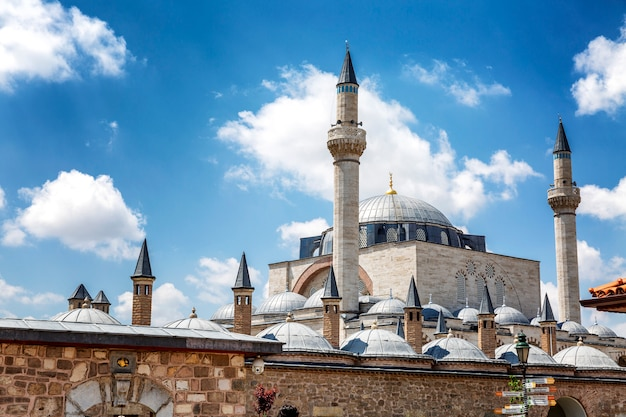 Mevlana museum on a bright sunny day.