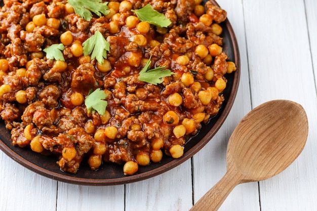Mexican chili pork with chickpeas