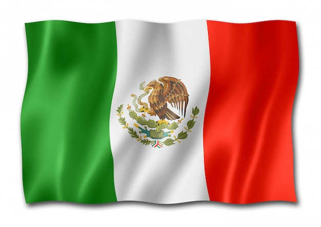 Mexican flag isolated
