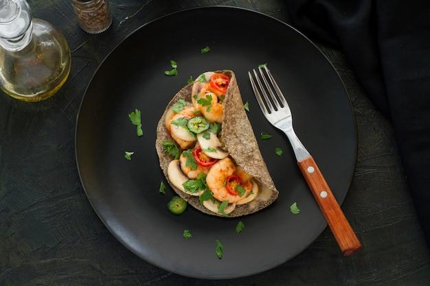 メキシコ料理のコンセプトのトップビュー