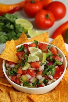 ピコデガロとメキシコ料理のコンセプト、クローズアップ