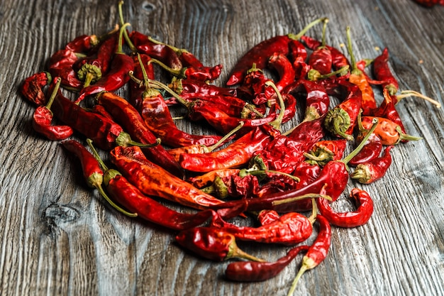 Mexican food. dried red hot chilli pepper. spicy taste