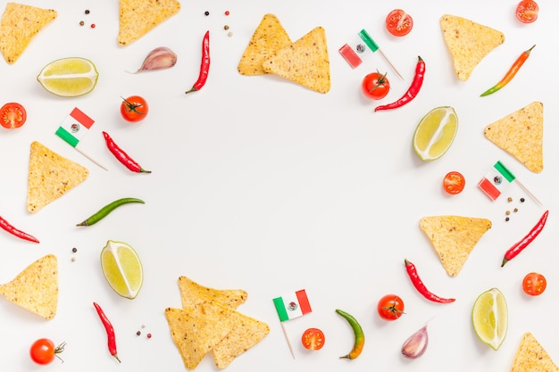 Mexican food preparation cooking concept