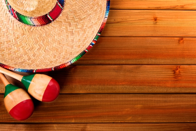 Mexican hat on wood