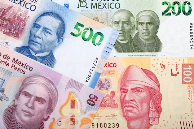 Mexican peso bill