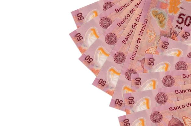 メキシコペソ紙幣は白で隔離されています