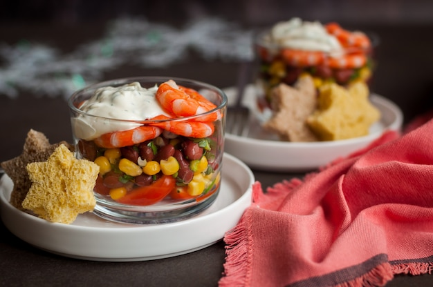 マヨネーズドレッシングのメキシコ海老サラダ