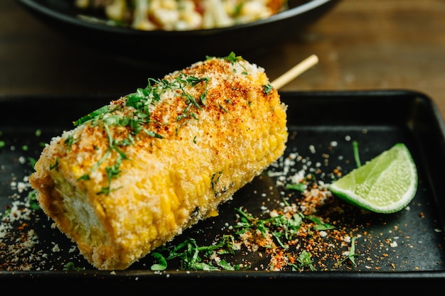 Mexican style grilled corn.