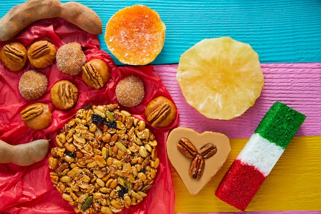 Mexican sweets and pastries cajeta tamarindo