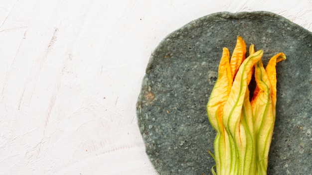 Mexican vegetable on plate with white background
