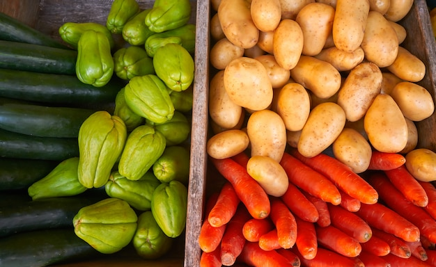 Mexican vegetables carrot potato chayote