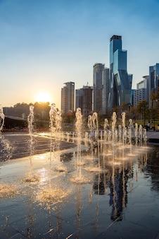Mexico city park fountains, parque la mexicana, santa fe, cdmx
