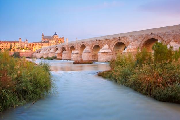 Мескита и римский мост в кордове, испания
