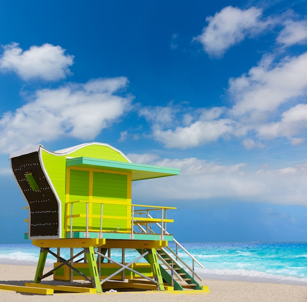 Miami beach baywatch tower south beach florida