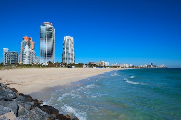 Miami beach in florida, usa