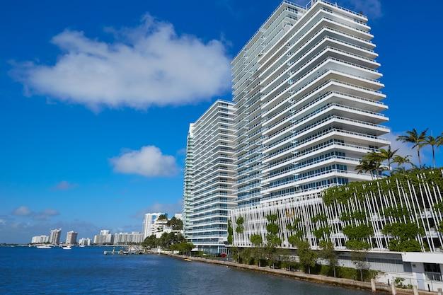Miami beach from macarthur causeway florida