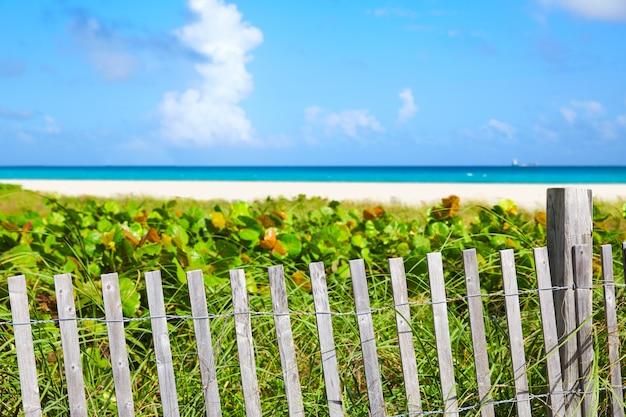 Miami south beach entrance florida us