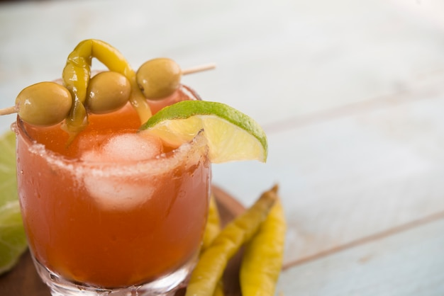 Michelada, cocktail mexican