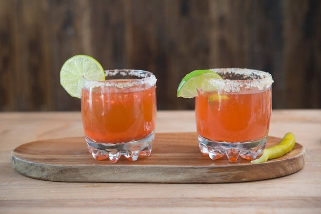 Michelada, tradicional cocktail mexican