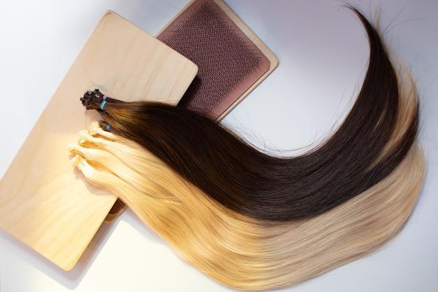 マイクロビーズナノリング人間の髪の毛のエクステンション
