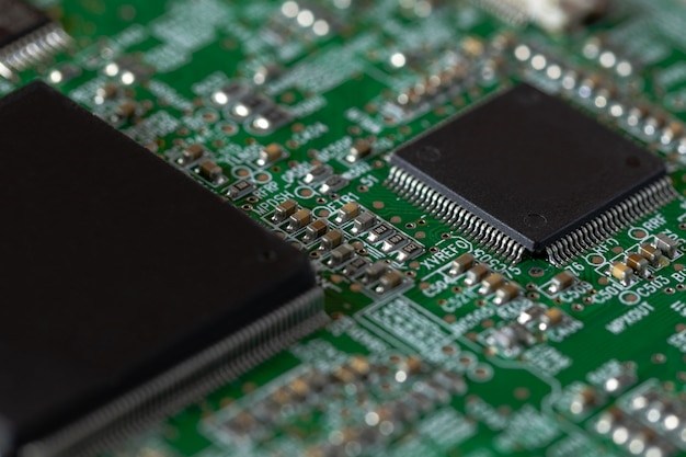 Microchip on printed circuit board