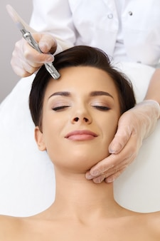 Microdermabrasion. cosmetology.