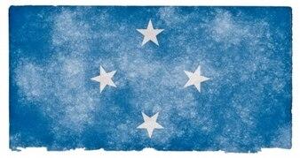 Micronesia grunge flag