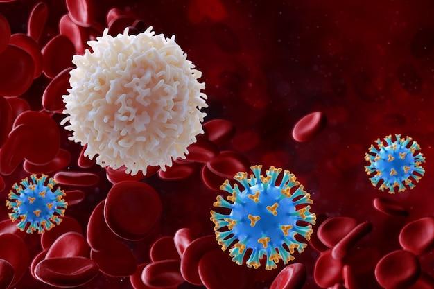Клетки микроорганизмов под микроскопом
