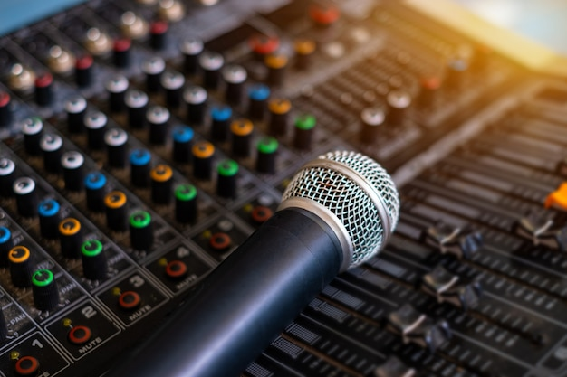 Microphone and audio sound mixer analog