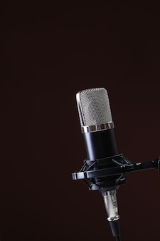 Microphone on dark