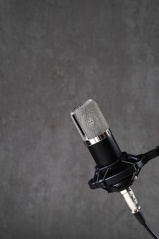 Microphone on grey