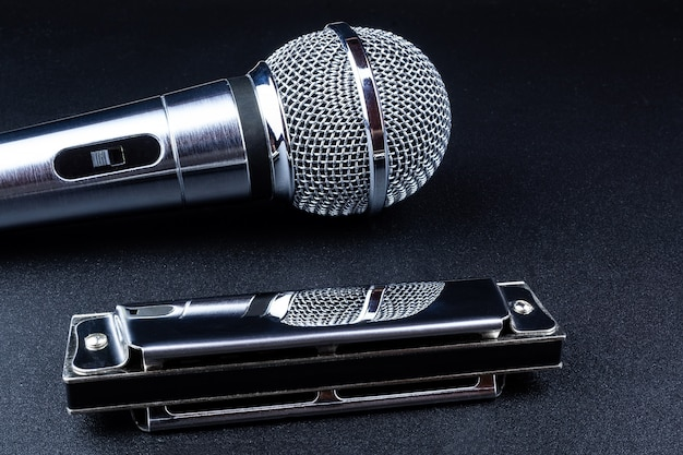 Microphone and harmonica
