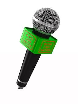 Микрофон. изолированный 3d-рендеринг