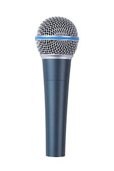 Микрофон, изолированные на белом фоне Premium Фотографии
