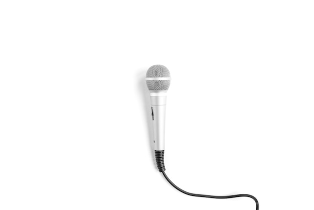 Microphone isolated on white.