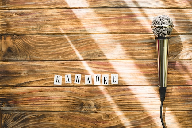Microphone and karaoke word