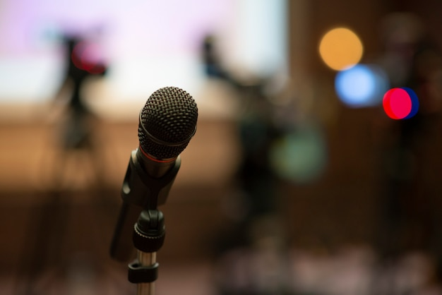 Microphone in the meeting hall conference