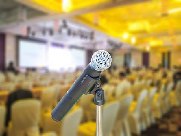 Microphone in meeting room.
