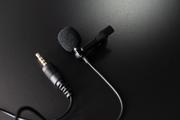 Microphone, microphone on a black table
