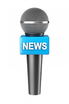 Microphone news isolated