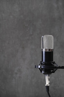 Микрофон на сером