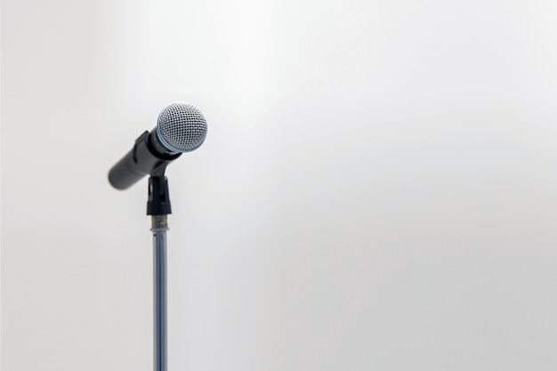 Microphone on the stand for public speaking