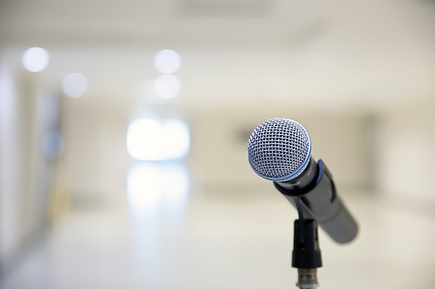 Microphone on the stand.