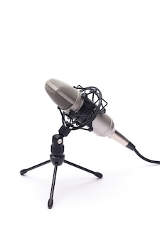 Microphone with a cable isolated