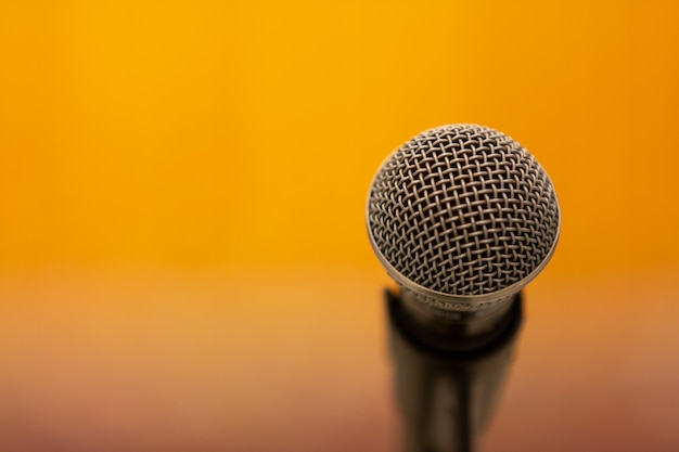 Microphone on yellow