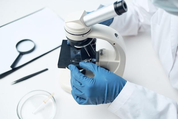 현미경 실험실 연구 진단 미생물학
