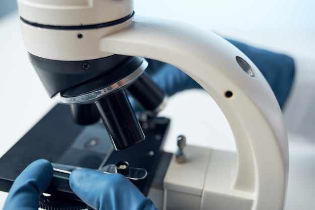 Microscope research biotechnology medicine science