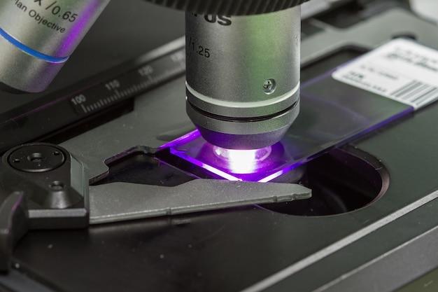 Microscopes in laboratory hospital